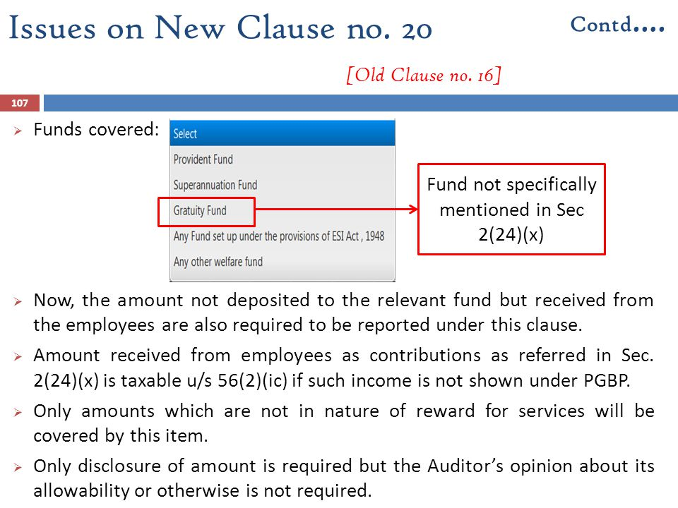 Issues on New Clause no. 20 [Old Clause no. 16]